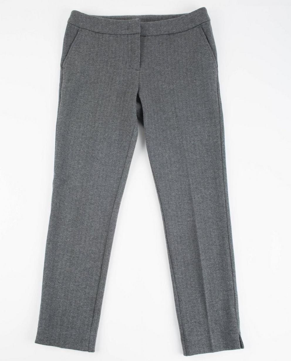 Grijze klassieke pantalon - met subtiel visgraatmotief - JBC